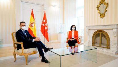 reunión del presidente Pedro Sánchez con la presidenta de la Comunidad de Madrid, Isabel Díaz Ayuso