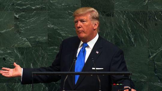 Trump centró su discurso en la política exterior de su gestión.