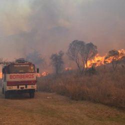 El departamento de Las Jarillas fue otra de las zonas más afectadas por los focos de fuego.