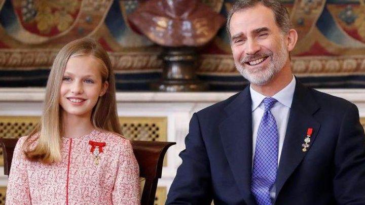 La Princesa Leonor y el Rey Felipe rompen una norma protocolar que pone en riesgo a la corona