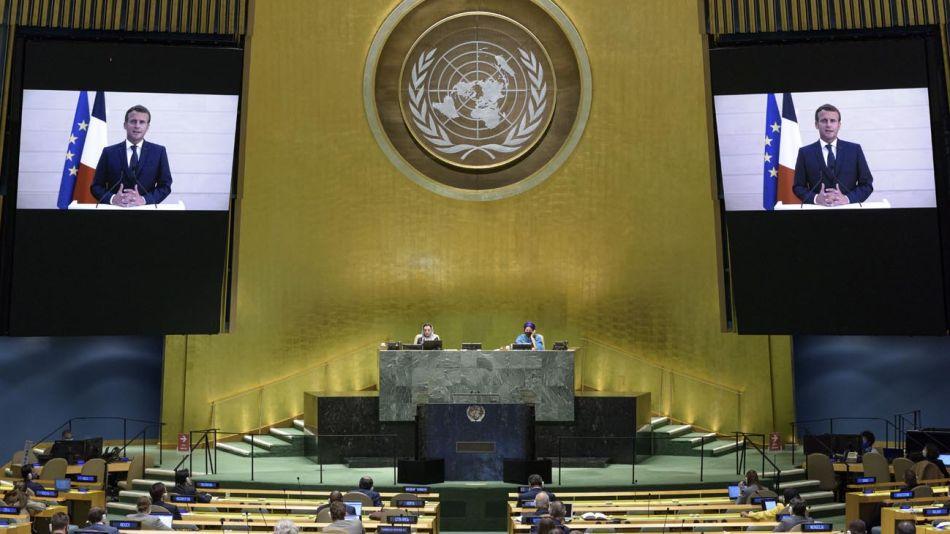 Emmanuel Macrón en Naciones Unidas 20200923