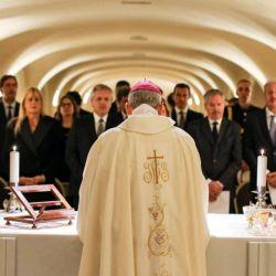 Alberto Fernández, Béliz, Losardo y Solá en las criptas del Vaticano en enero.  | Foto:CEDOC