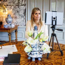 La Reina Máxima de los Países Bajos asiste a una reunión de las Naciones Unidas (ONU) de Huis Ten Bosch en La Haya.   Foto:Patrick van Katwijk / ANP / AFP