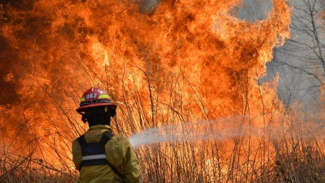 Incendios sin control en Córdoba.