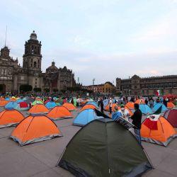 México, Ciudad de México: Miembros del Frente Nacional Anti-AMLO (Frenaaa) acampan en la avenida Juárez como parte de su plantón contra el gobierno del presidente mexicano Andrés Manuel López Obrador. | Foto:Carlos Mejaa / DPA