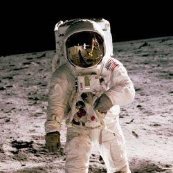 La caminata lunar de Edwin Aldrin, en 1969.