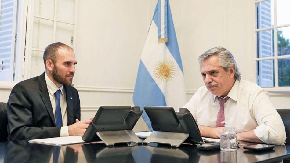Martín Guzmán y Alberto Fernández.
