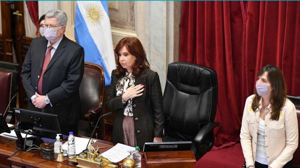 Cristina Fernández sin barbijo