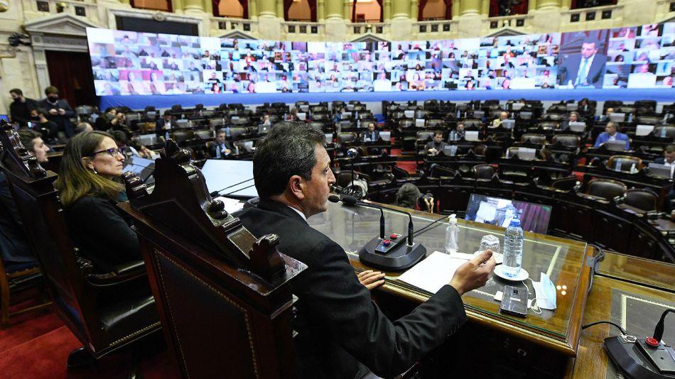 El presidente de la Cámara de Diputados, Sergio Massa.