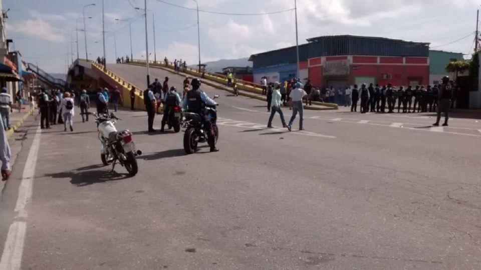 Una de las manifestaciones en el estado venezolano de Yaracuy