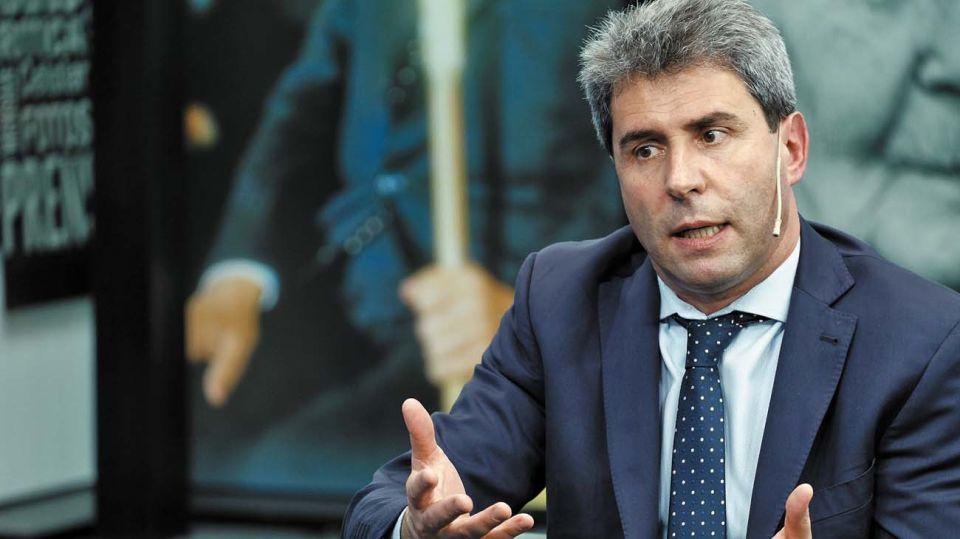 El gobernador de San Juan, Sergio Uñac, en la entrevista con Jorge Fontevecchia.