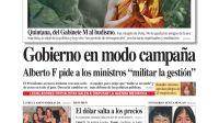 tapa Diario PERFIL domingo 27 de septiembre 2020