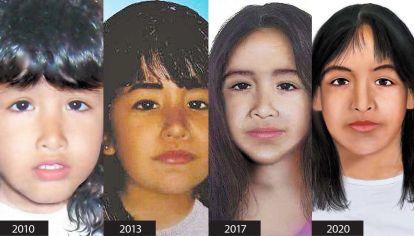 Imagen. Cuando Sofía Herrera desapareció tenía 3 años y su mamá ahora se esperanza con encontrarla tras la actualización del rostro que dibujó Alberto Suárez.