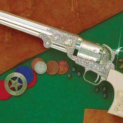 """Uno de los dos Colt Navy 1851 pertenecientes al comisario James Butler Hickok, conocido como """"Wild Bill""""."""