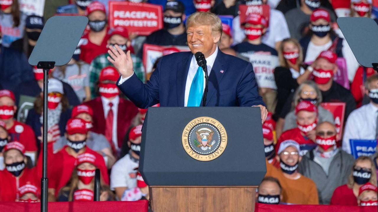 Trump, en plena campaña por su reelección.    Foto:DPA