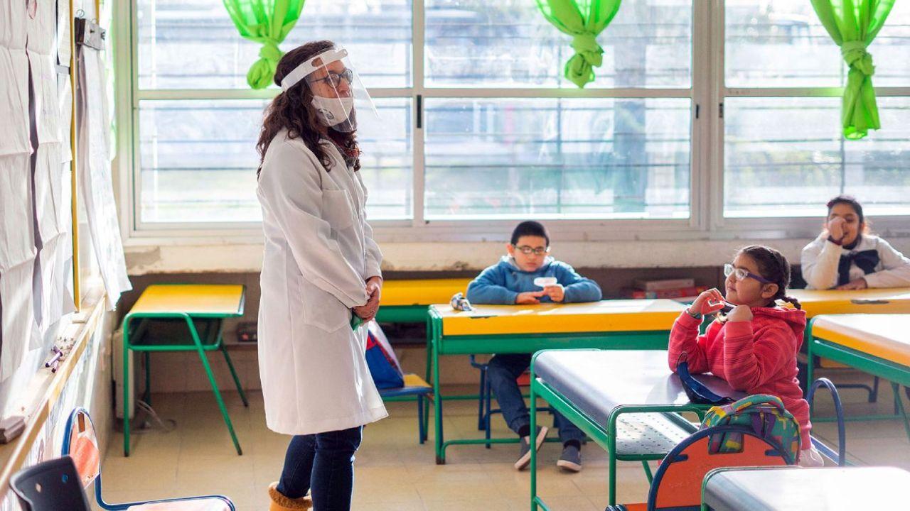 Uruguay implementó el retorno gradual a las clases presenciales hace un mes.  | Foto:CEDOC