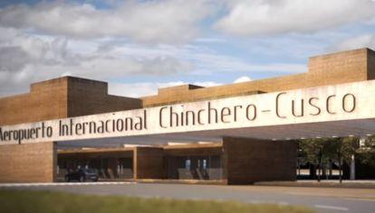 Maqueta digital del Aeropuerto Internacional de Chinchero, que nunca se construyó. Exfuncionarios y ejecutivos son investigados en Perú por esta obra. En Argentina, la causa se archivó en 2019. Crédito: agencia oficial ProInversión de Perú.