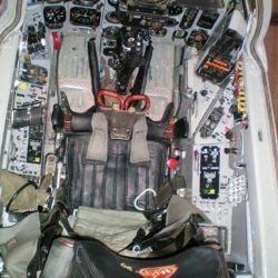 La cabina se mantiene en perfectas condiciones.