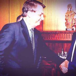 Jair Bolsonaro junto a Daniel Scioli.