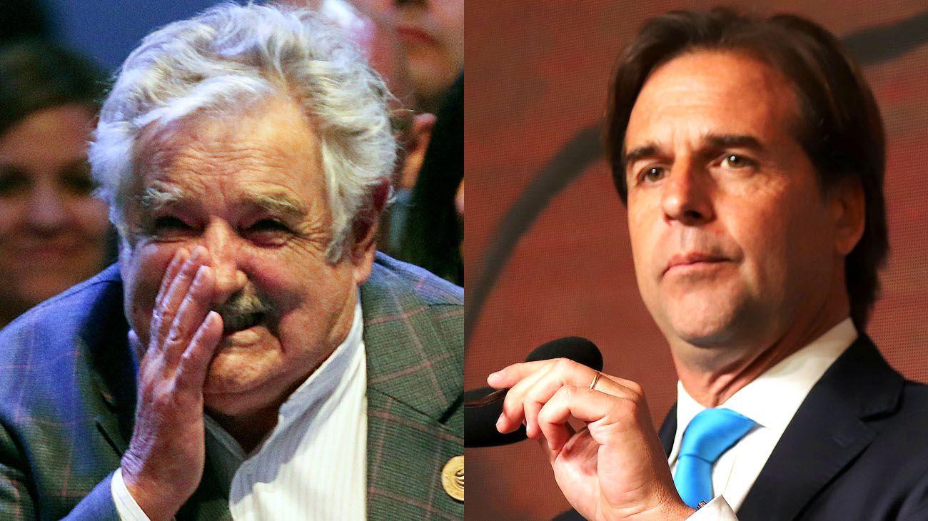 "José ""Pepe"" Mujica y Luís Lacalle Pou."