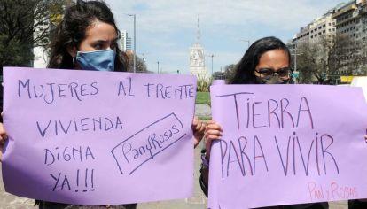 Obelisco, manifestaciones a favor de las tomas de tierras en Guernica-20200929
