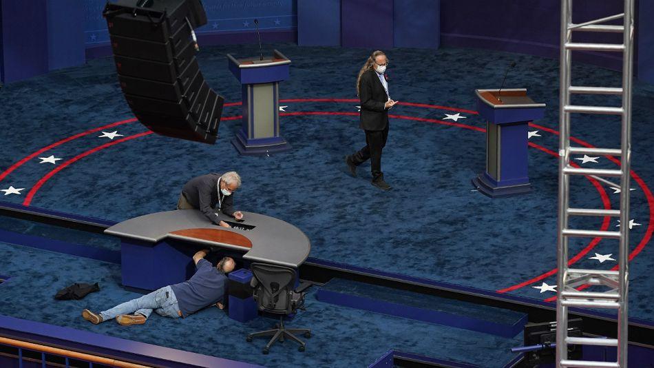 Debate presidencial en Estados Unidos. Donald Trump y Joe Biden.