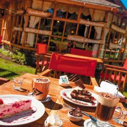 Merienda en el salón de té Ñancu Lahuen.