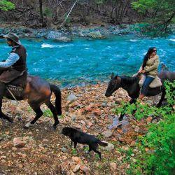 En la estancia Río Minero se hacen las mejores cabalgatas de la zona.