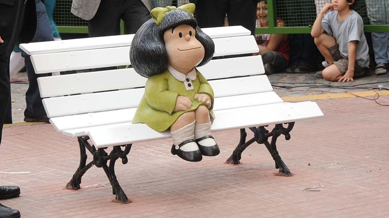 Estatua de Mafalda en San Telmo.