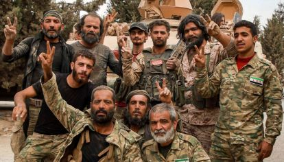 Uno de los grupos islámicos apoyados por Turquía en Siria. Rusia confirmó la presencia de combatientes en Nagorno.