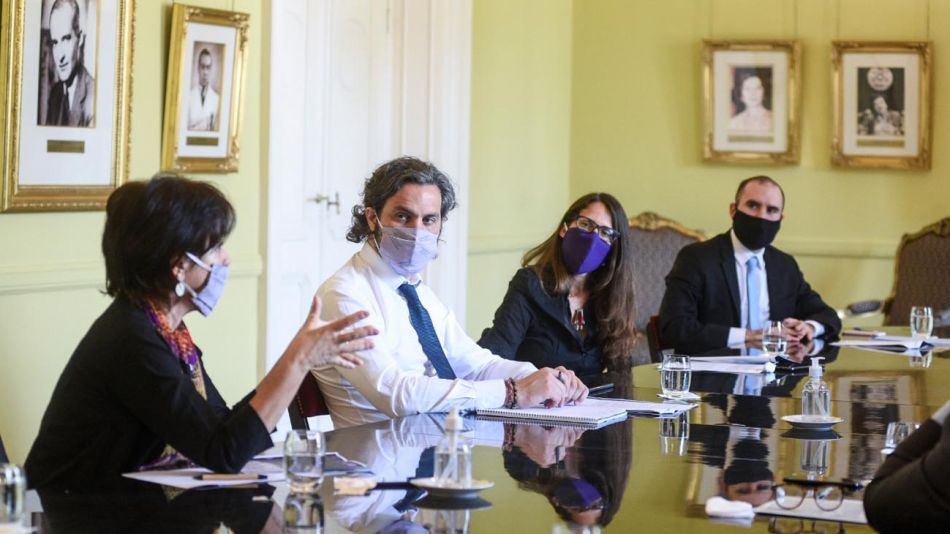 Reunión de gabinete económico con Todesca Bocco, Cafiero, Guzmán y otros 20200930