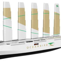 El Oceanbird será el primer velero de carga del mundo. Podrá transportar 7.000 vehículos y sus velas elevarse más de 100 m.