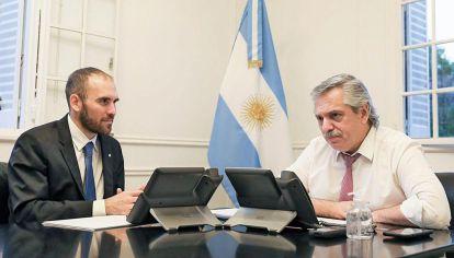 Martín Guzmán y Alberto Fernández