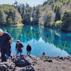El lago Arco Iris con su bosque hundido.