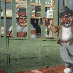 Imagen de Molina Campos representando la pulpería.