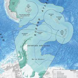 La extensión de las plataformas submarinas permite que en algunos lugares, la zona económica se prolongue hasta 369 millas.