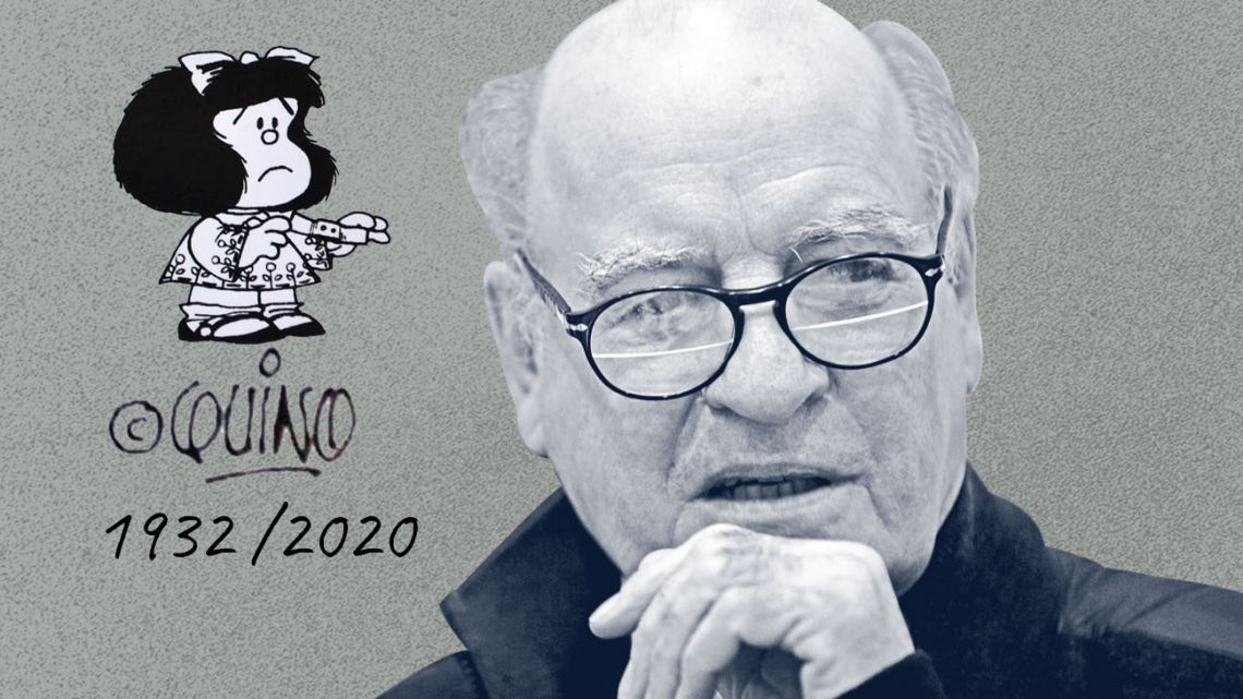 Quino, the creator of Mafalda.