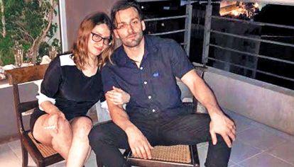 Pareja. Julieta Riera y Julián Christe convivían hacía un año.