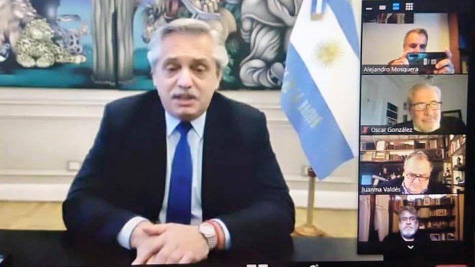 20201004_alberto_fernandez_videoconferencia_telam_g
