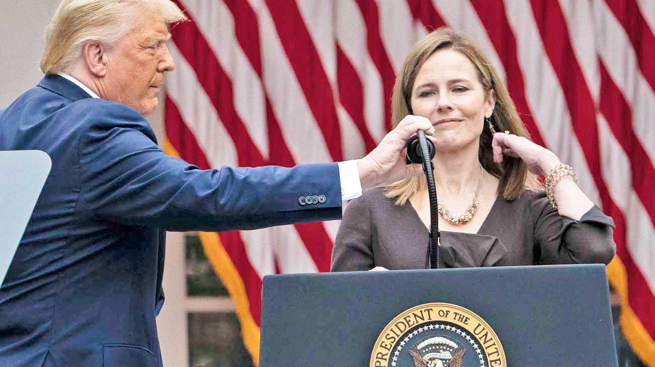 Corte de ee.uu. Trump apuró una designación conservadora y sin perspectiva de género.