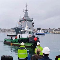 El ARA Piedrabuena fue botado el pasado 1 de octubre en el Astillero Kership, en Francia.
