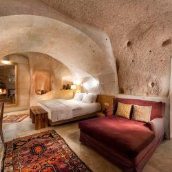 La principal característica de Argos in Cappdocia son las habitaciones instaladas en cuevas y a todo lujo.