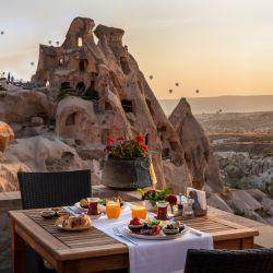 Vistas de Capadocia desde el hotel Argos in Cappadocia.