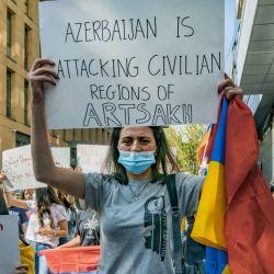 Las protestas de la comunidad armenia en el mundo.   Foto:DPA