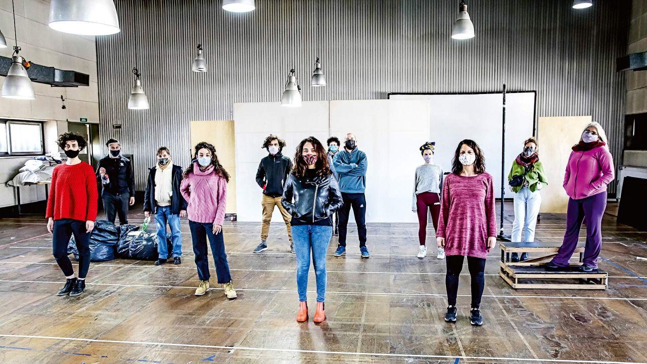 """Ensayo de la obra """"Civilización""""   Foto:Teatro Cervantes"""