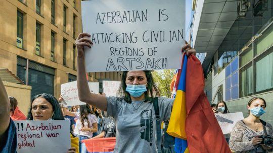Las protestas de la comunidad armenia en el mundo.