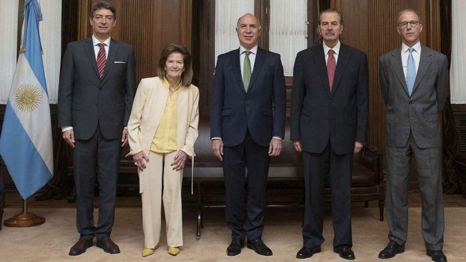 Integrantes de la Corte Suprema de Justicia.
