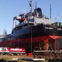 El buque estuvo en gradas de Tandanor durante 105 días.