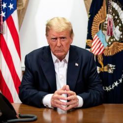 Trump en un mensaje grabado el domingo.   Foto:CEDOC