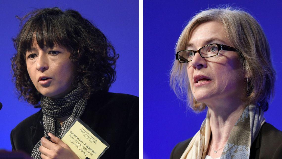 Emmanuelle Charpentier, left, and Jennifer Doudna.